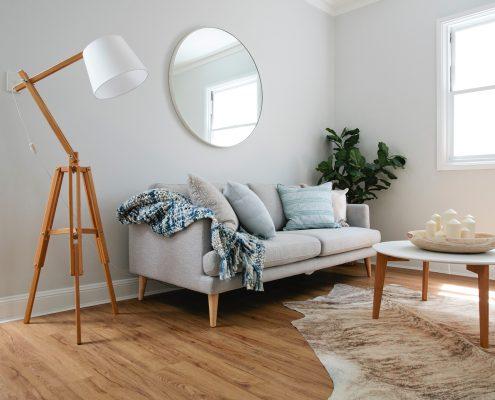 lounge round mirror living room